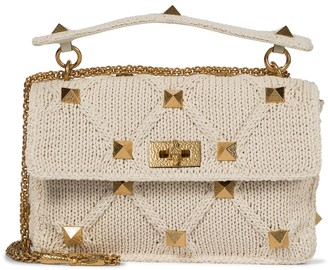 Valentino Roman Stud crochet shoulder bag