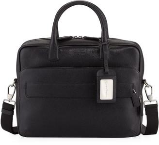 Giorgio Armani Caviar Leather Briefcase