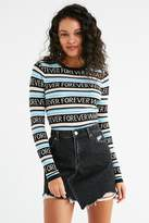 Urban Outfitters Whatever Forever Striped Crew-Neck Sweater