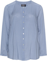 Via Appia Plus Size Mother of pearl printed blouse