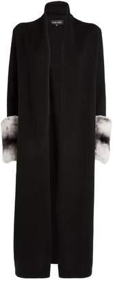 Izaak Azanei Rabbit Fur Cuff Cardigan