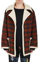 Stampd Men's Plaid Flannel Oversized Jacket