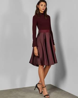 Ted Baker Frill Neck Full Skirt Dress