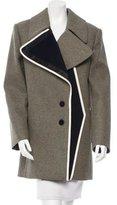 Bouchra Jarrar Wool Contrast-Trimmed Coat w/ Tags