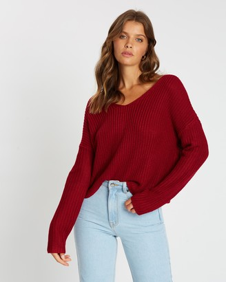Atmos & Here Cleo Cross Back Knit Jumper