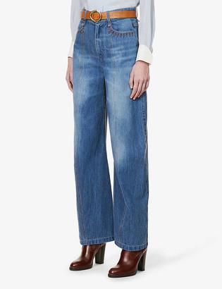 Chloé Regular-fit high-rise jeans