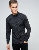 Blend of America Slim Fit Diamond Print Shirt