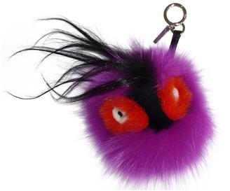 Fendi Purple Fox Bag charms