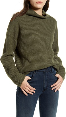 Chelsea28 Rib Funnel Neck Sweater