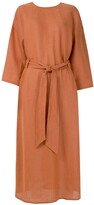 Andrea Marques belted relaxed fit dress