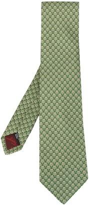 Salvatore Ferragamo Gancini jacquard pattern tie