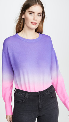 Alice + Olivia Gleeson Dip Dye Long Sleeve Cashmere Pullover