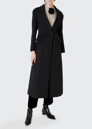 Giorgio Armani Long Mixed Wool Coat