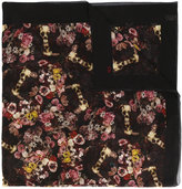 Christian Dior kaleidoscope floral scarf