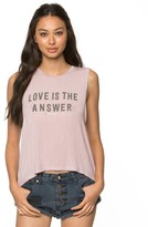 Spiritual Gangster Love Is The Answer Tank Top