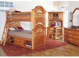 Cape Cod Honey 3 Pc Bunk Bedroom