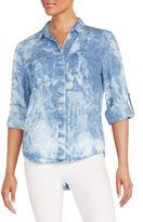Saks Fifth Avenue RED Riley Roll-Tab Sleeve Shirt