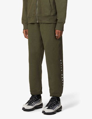 Daily Paper Alias branded tapered-leg cotton-jersey jogging bottoms