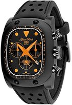 Glam Rock Women's GR70106 Gulfstream Chronograph Black Dial Black Silicone Watch