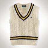 Cotton V-Neck Cricket Vest