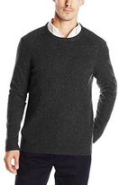 Haggar Men's Solid Crew-Neck with Nep Yarn Sweater