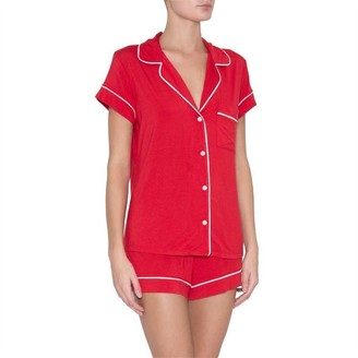 Eberjey Gisele Short Pj Set Boxed Haute Red S