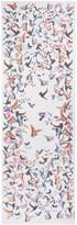 St. John African Sparrows Print Silk Georgette Scarf