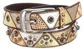 Miu Miu Studded Snakeskin Belt