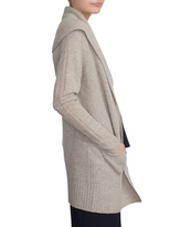 White + Warren Cashmere Shawl Collar Coatigan