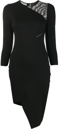 Philipp Plein Asymmetric Fitted Dress