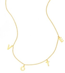 """ADORNIA Vote Charm Necklace 15"""" + 2"""" extender"""