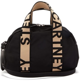 Stella McCartney Boston Mini Logo-jacquard Canvas Bag - Black