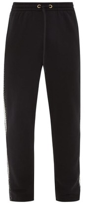 Burberry Arnold Side-striped Cotton Track Pants - Black