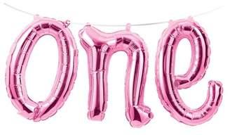 "Creative Converting 1st Birthday Girl ""One"" Balloon Banner"