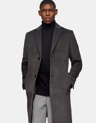 Topman overcoat in grey