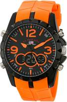 U.S. Polo Assn. Sport Men's US9057 Analog-Digital Dial and Orange Rubber Strap Watch