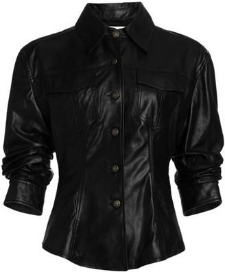 Cinq à Sept Scrunched Canyon Leather Jacket