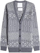 White Mountaineering Printed Wool Cardigan