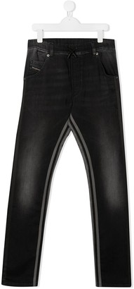Diesel TEEN side-stripe jeans