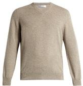 Brunello Cucinelli V-neck Cashmere-blend Sweater