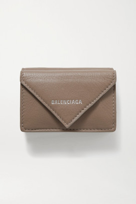 Balenciaga Papier Mini Printed Textured-leather Wallet - Tan