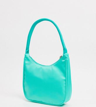 Glamorous Exclusive 90s shoulder bag in sage green nylon