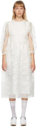 Simone Rocha Off-White Daisy Organza Dress