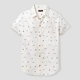 art class Boys' Geo Print Popover Woven Button Down Shirt - Art Class Geo Print