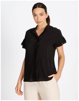 Basque Frill Sleeve Shirt