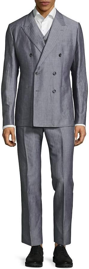 Dolce & Gabbana Men's Regular Fit Three-Piece Pinstripe Suit