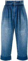 J.W.Anderson cropped pleated front jeans - men - Cotton - 48
