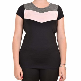 Skechers Womens Womens Sienna Cap Sleeve T-Shirt in Black - 10