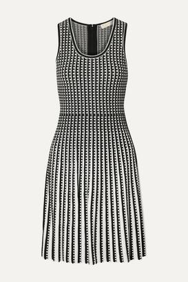 MICHAEL Michael Kors Pleated Stretch-knit Dress - Black