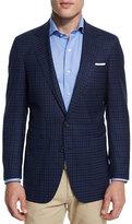 Peter Millar Check Soft Wool Sport Coat, Navy